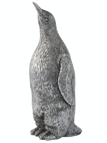SERAFINA PENGUIN H21 CM. ANTIQUE SILVER