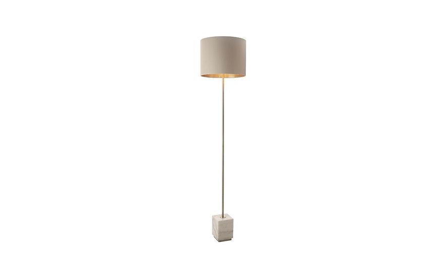 Sintra, antique brass finish, marble base floor lamp
