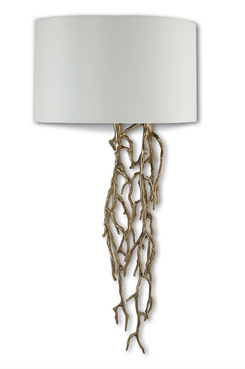 Brinley Antique Brass Wall Lamp