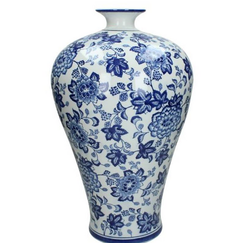 Chinoiserie Blue Vase