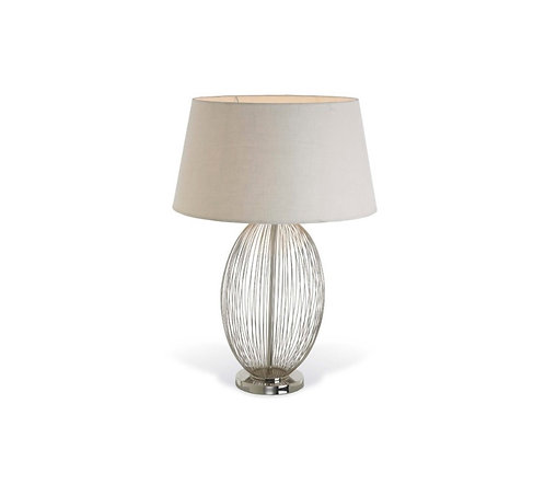 Bo Nickel Oval Cage Lamp