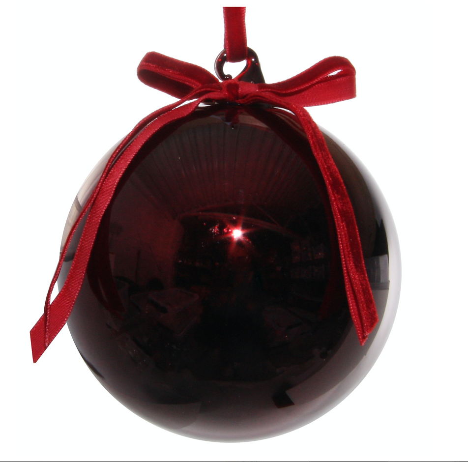 Burgundy red Christmas tree Bauble