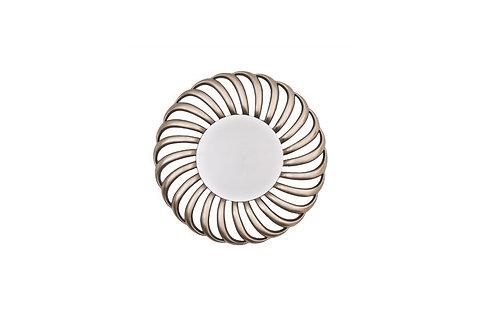 Round Silver Leaf Mirror