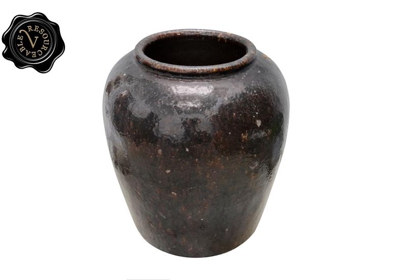XL Antique Black Vase