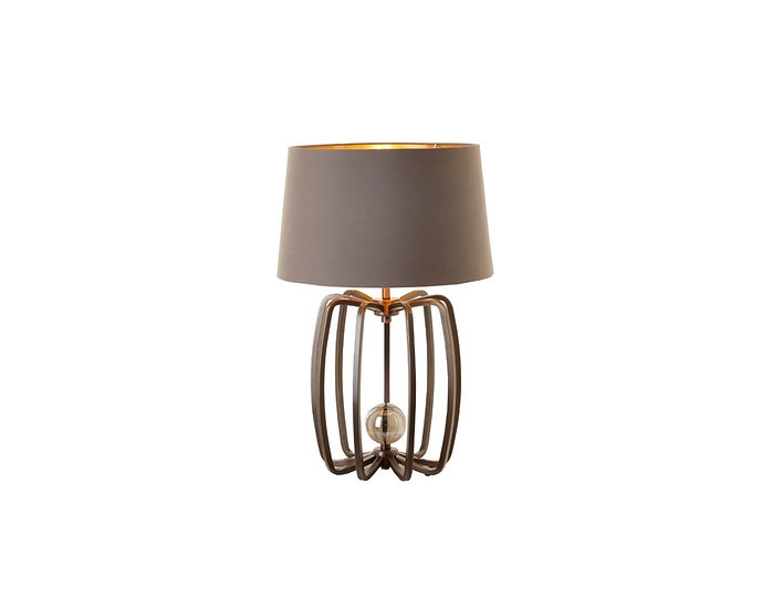Cage Lamp Antique Brass Small