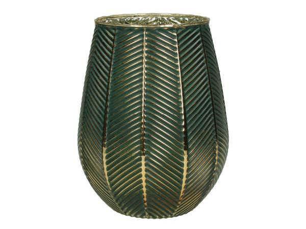 Tealight Holder Glass Petrol 15x15x19