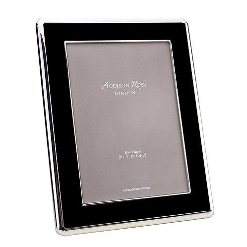 Addison Ross Black Enamel & Silver Curve Frame 5X7IN
