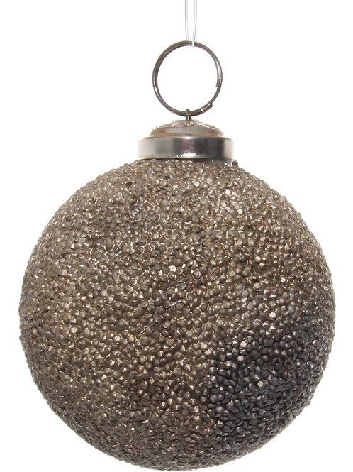 Glass ball copper antique crystals 8cm