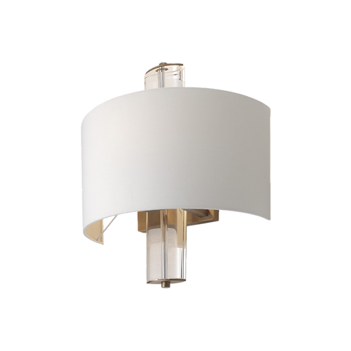 Blea, Antique brass finish with clear Crystal wall lamp
