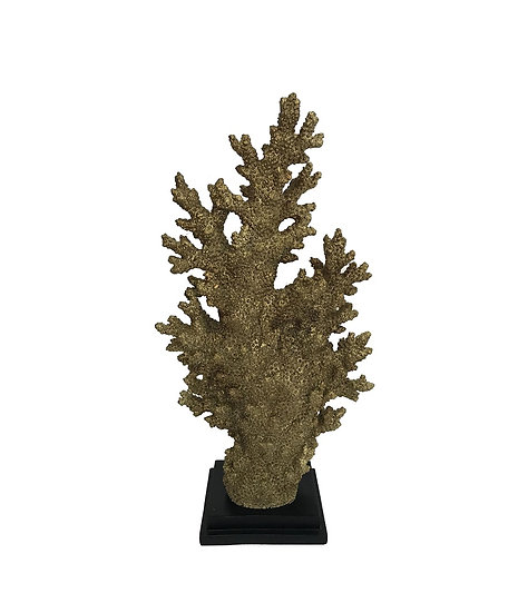 GOLD CORAL IN RESIN 32x17x64h