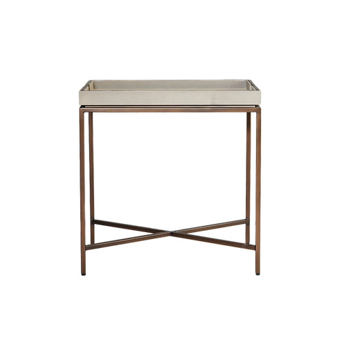 RL COLLINS SIDE TABLE - CHALK SHAGREEN