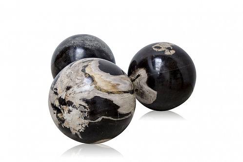 PETRIFIED WOOD BALL