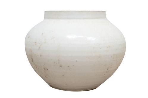 Antique White Ceramic Vase