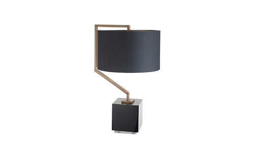 Cyclone Antique Brass Table Lamp