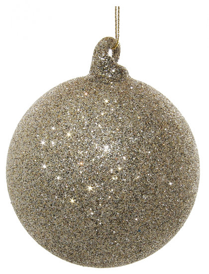 Glass ball tiffany glitter 8cm