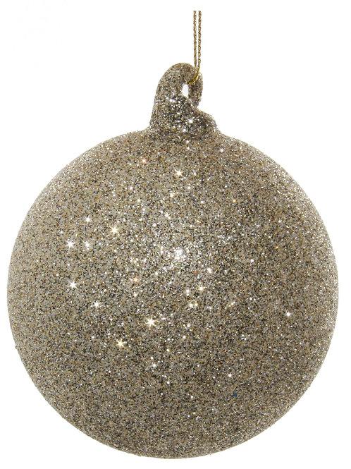 Glass ball tiffany glitter 8cm