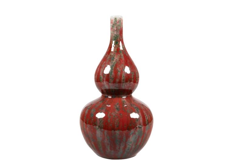 Earthenware Red Ball Vase