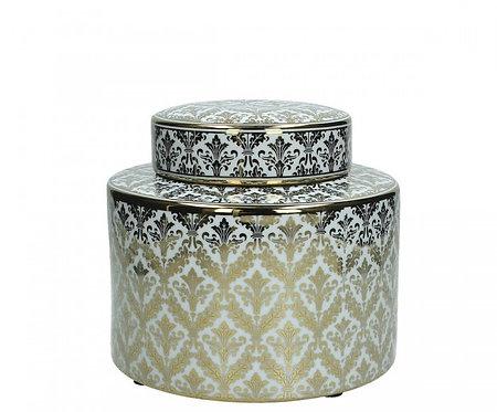 Porcelain Jar Gold Small