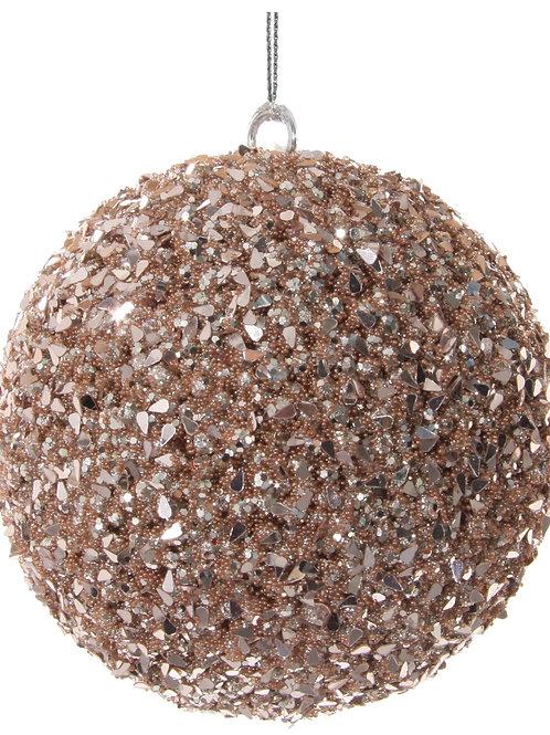 Bead-sequin ball rose gold 10cm