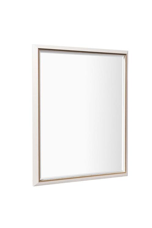 Devon Mirror in White Finish