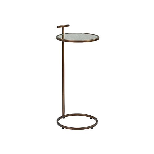 COCKTAIL TABLE ROUND - BRONZE / ANTIQUE MIRROR