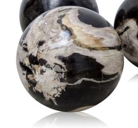 Petrified Wood Ball Ornament