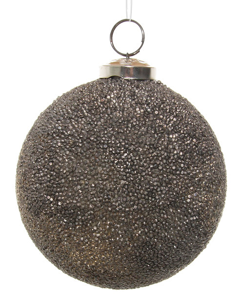 Glass ball copper antique crystals 10cm