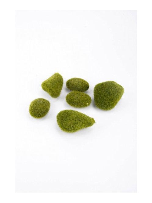 Bag of Moss Stones (6 pieces)
