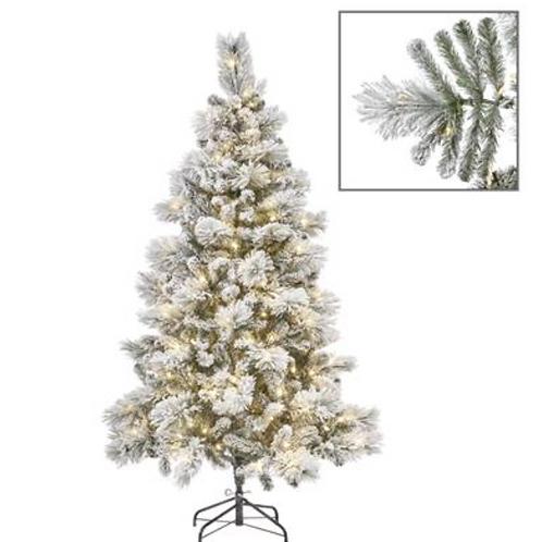 450 LED L.FLOCK PINE TREE WH 225CM 1008TPS
