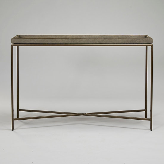 RL Collins Console Table Dove Shagreen