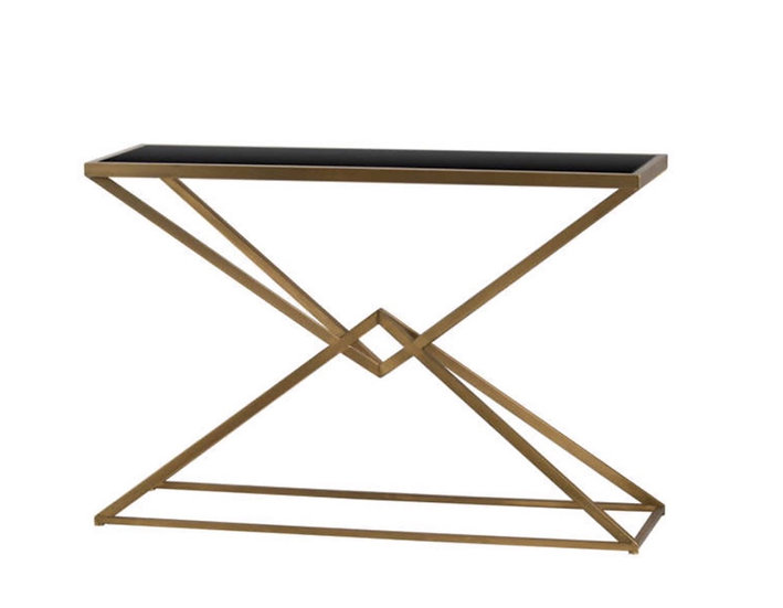 Antique Bronze Contemporary Display Console