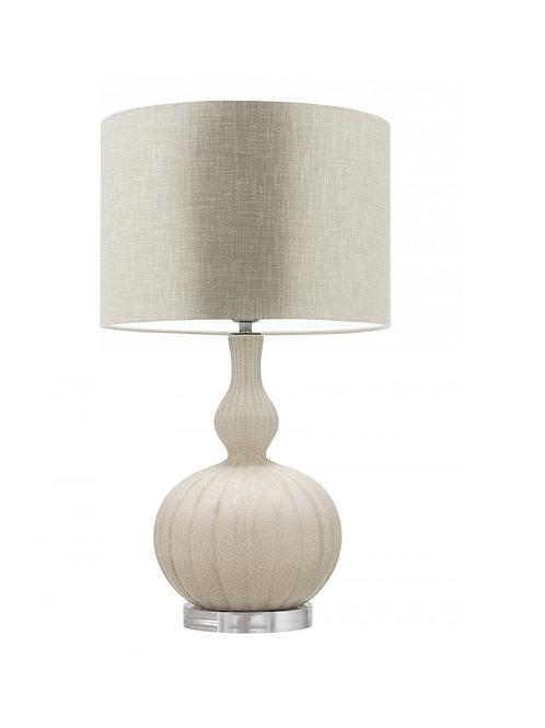 Heathfield & Co Celine Natural Crème Table Lamp