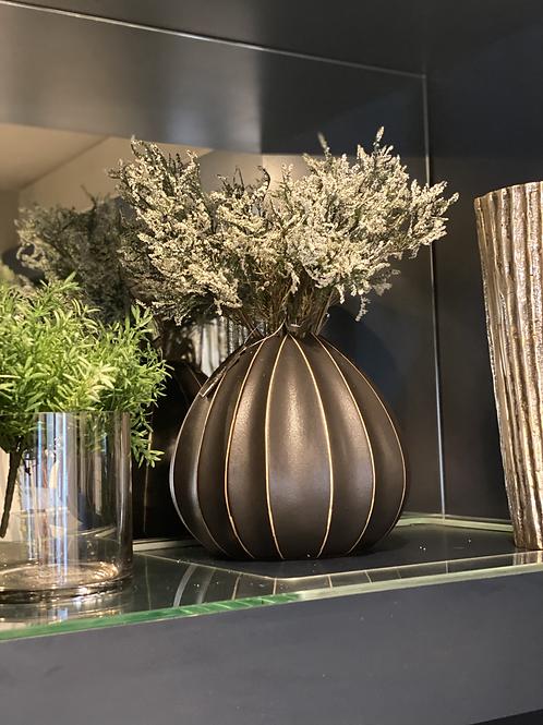 Black Urchin Vase