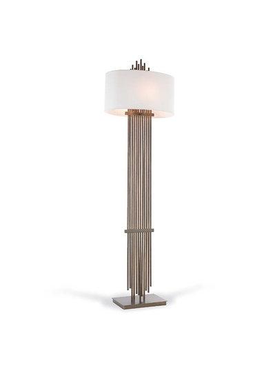 Vienna Dark Antique Brass Floor Lamp