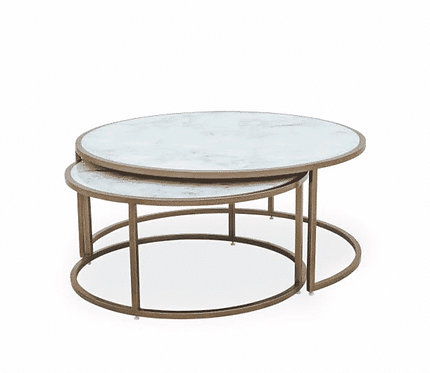 Ropley Nest Table White