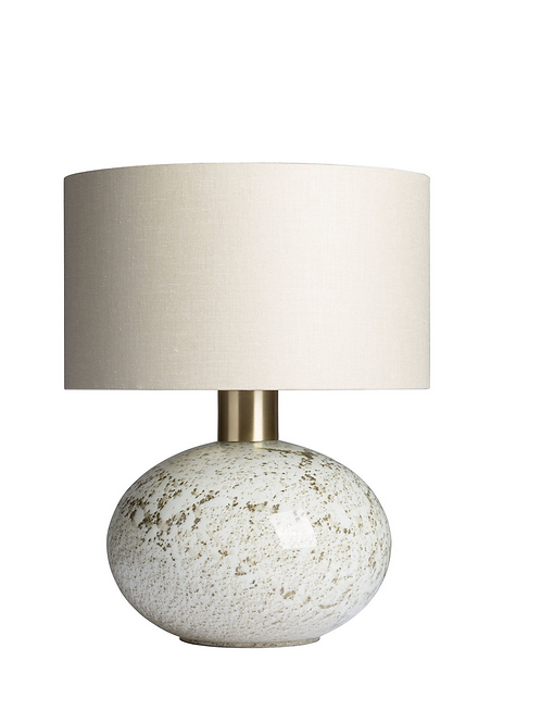 Heathfield & Co Orion Suede Lamp
