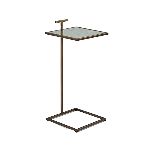 COCKTAIL TABLE SQUARE - BRONZE / ANTIQUE MIRROR