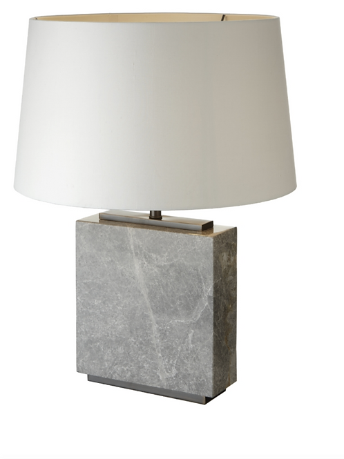 Grey Marble Table Lamp