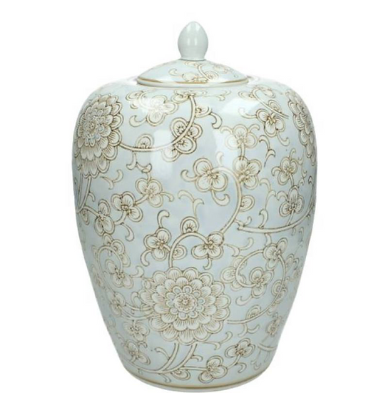 Duck Egg Jar with lid
