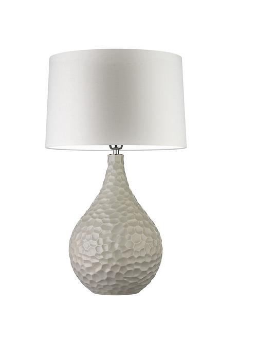 Heathfield & Co Novella Chalk Table Lamp