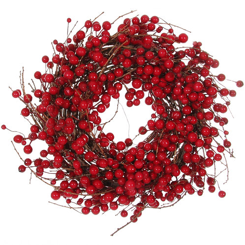 Berry wreath red d38cm