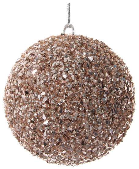Bead-sequin ball rose gold 10cm