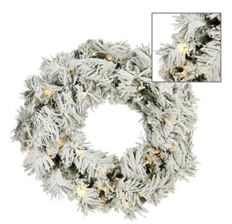 Pre lit smow wreath