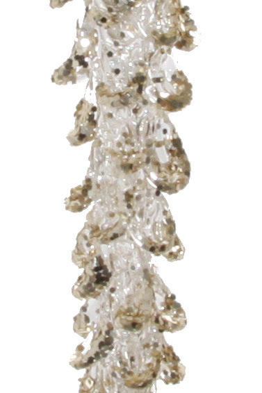 Spunglass icicle gold glitter 23cm