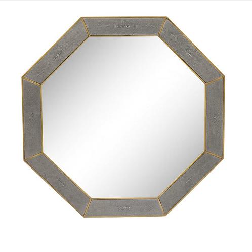 Hampton Mirror Grey Shagreen