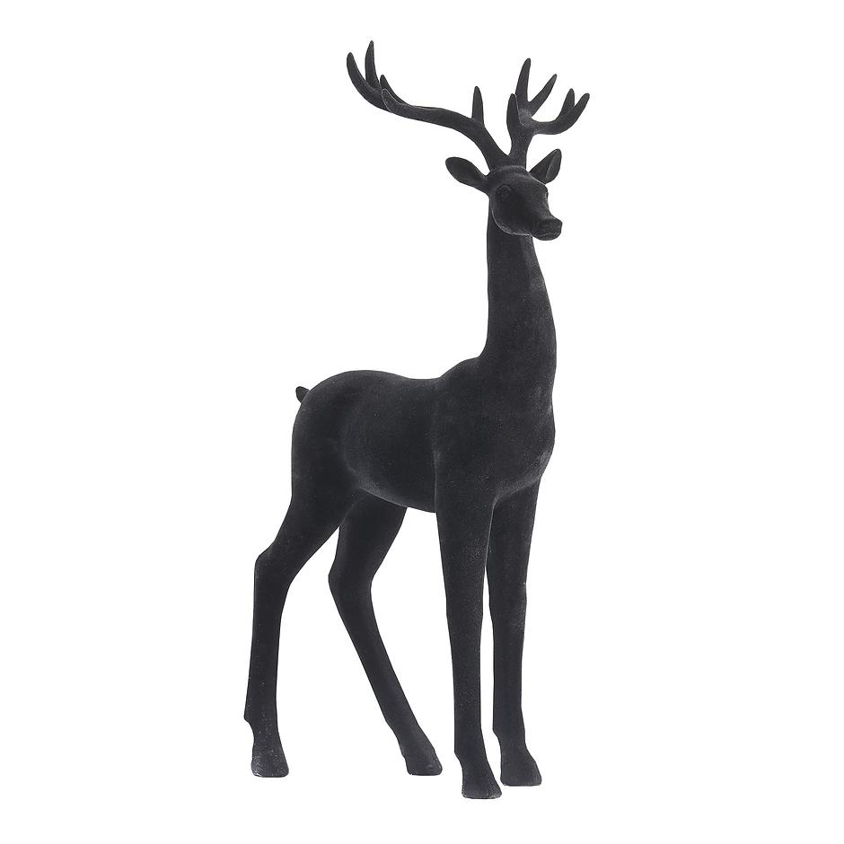 Reindeer Black Velvet Decoration