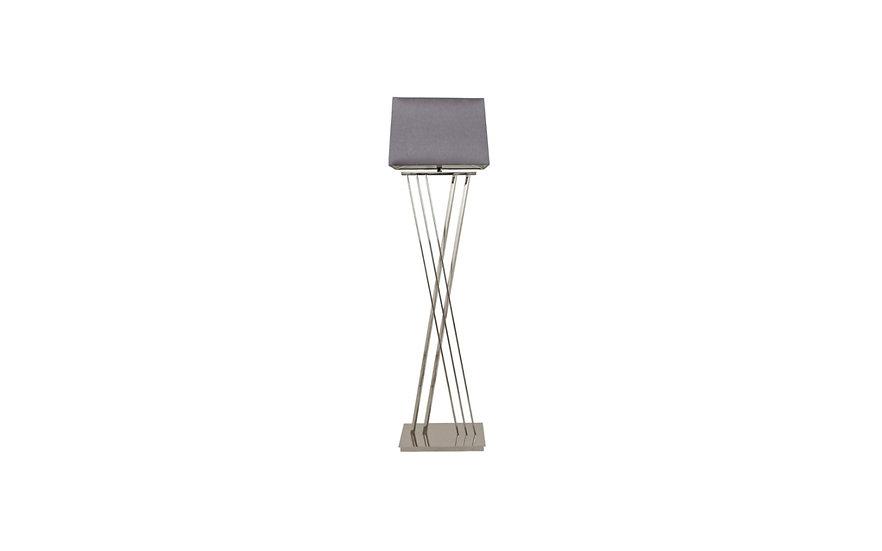 Roma Nickel Floor Lamp