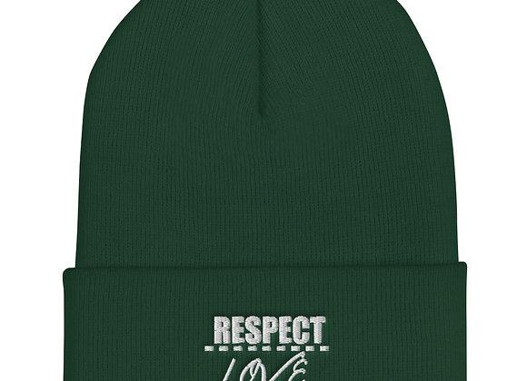 Respect Over Love Cuffed Beanie