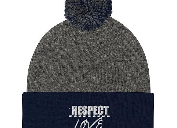 Respect Over Love Pom-Pom Beanie