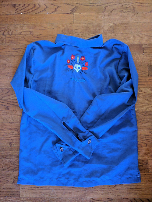Skull Blue Shirt